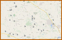 Map view of the free downloadable walks