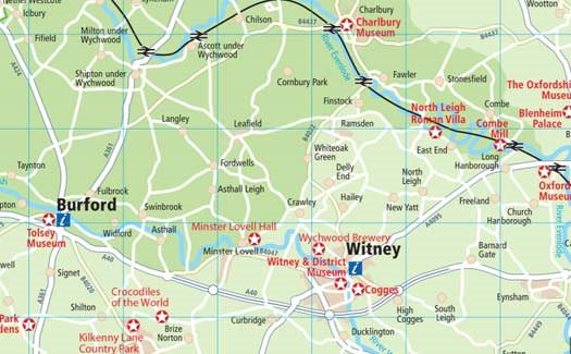 Map Of England Villages.Maps Oxfordshire Cotswolds