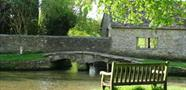 The pretty little 18th century hump backed bridge featured in TV drama Downton Abbey - photo courtesy of Chris Burton
