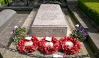 The tomb of Sir Winston Churchill at Bladon
