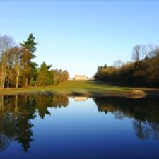 View of Heythrop Park across the lake