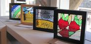 Stained glass panels by Flora
