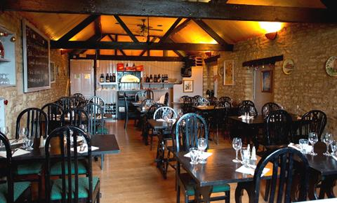 The upstairs restaurant of Osteria Giovanni in Witney